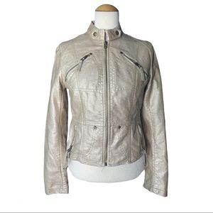 C.Luce Inc Metallic Gold Moto Jacket